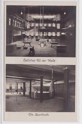 87874 Foto Ak Arbeiter-Turn- u. Sportschule Leipzig Sporthalle um 1930