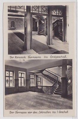 87871 Foto Ak Arbeiter-Turn- u. Sportschule Leipzig Vorräume um 1930