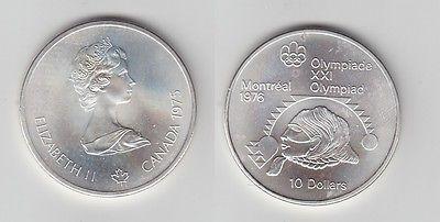 10 Dollar Silber Münze Canada Kanada Olympiade Montreal Indianerkopf