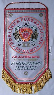 DDR Wimpel 20 Jahre Berliner Fußballklub BFC 1986 Förderndes Mitglied (107094) 0