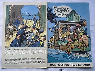 Seltenes Mosaik Heft Hannes Hegen Digedags Nr.181 Schwarze Serie (116042)