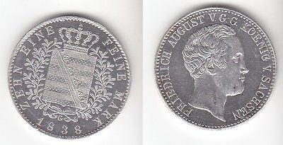 1 Taler Sachsen Friedrich August 1838 G PP selten ! (111959)
