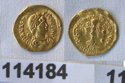 Tremissis Gold Münze Anatasius Byzanz Konstantinopel 491-518 n.Chr. (114184)
