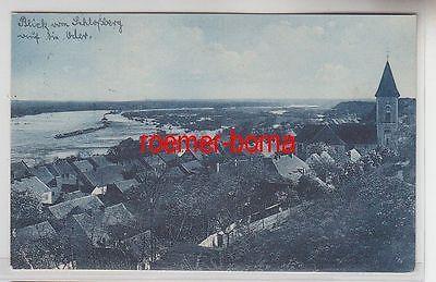 72598 Ak Gruß aus Lebus an der Oder Totalansicht 1927