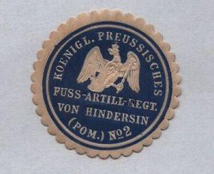 Seltene Vignette Siegelmarke Fuss Artillerie Regiment Nr.2 (122183)