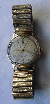 Seltene Glashütte Herren Armbanduhr Automat mit Metallarmband (115082)