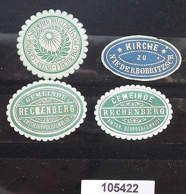 4 alte Vignetten Rechenberg und Niederbobritzsch um 1900 (105422)