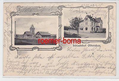 68717 Jugendstil Ak Schlachthof Olbernhau und Schlachthof-Schänke 1906