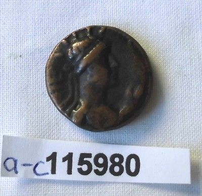 AE Drachme Bronze Münze Afganistan 55-105 n.Chr.