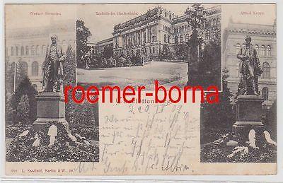 75075 Mehrbild Ak Charlottenburg Technische Hochschule 1902
