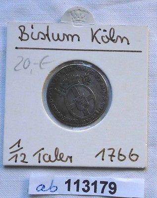 116 Taler Silber Münze Bistum Köln Maximilian Friedrich 1766