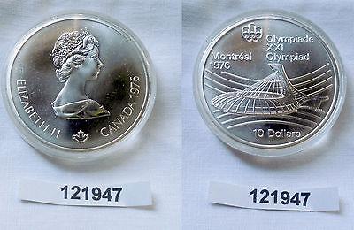 10 Dollar Silber Münze Canada Kanada Olympiade Montreal Stadion 1976