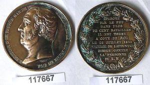 Bronze Medaille Édouard Adolphe Casimir Joseph Mortier 1835 (117667)