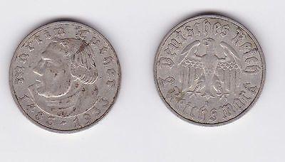 2 Mark Silber Münze Martin Luther 1933 E Jäger 352 117258 Nr