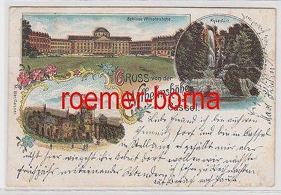 75061 Ak Lithografie Gruss von der Wilhelmshöhe bei Cassel 1900