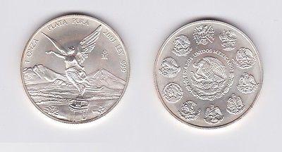 1 Onza Plata Pura Münze Mexiko 1 Unze 999 Silber Top 2001 119761