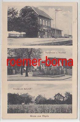 75689 Mehrbild Ak Gruss aus Räpitz Bahnhof, Dorfstrasse, Str. am Bahnhof 1942