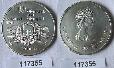 10 Dollar Silber Münze Canada Kanada Olympiade Montreal Zeuskopf