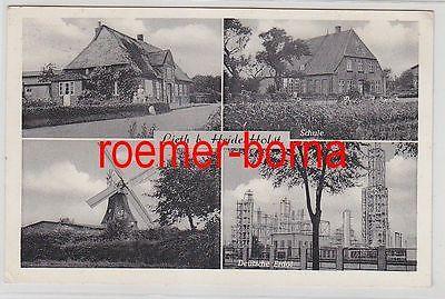 77448 Mehrbild Ak Lieth b. Heide / Holstein Fa. Deutsche Erdöl usw. 1955
