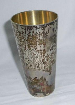 Seltener Silber Becher 800er Silber mit Initialen WB um 1920 (112249)