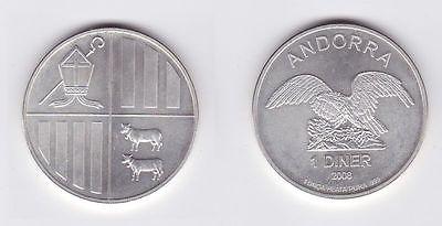 1 Diner Silber Münze Andorra 2008 1 Unze Feinsilber (117116)