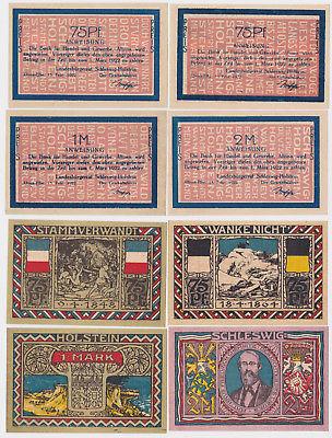 4 Banknoten Notgeld Landesbürgerrat Altona 15.2.1922 (122775)