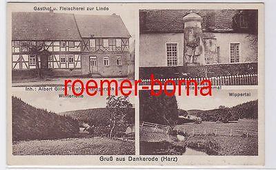 81065 Mehrbild Ak Gruß aus Dankerode (Harz) Gasthof Fleischerei zur Linde 1936