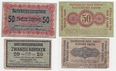 20 und 50 Kopeken Banknote Ostbank Posen 1916 (116176)
