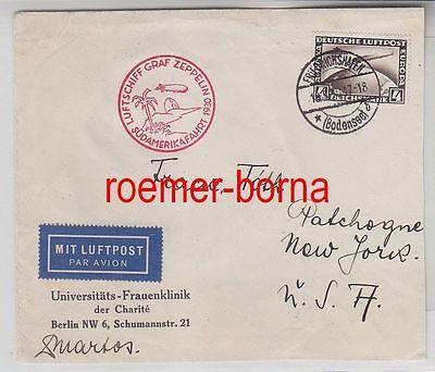 28696 schöner Zeppelin Brief mit 4 Reichsmark Südamerikafahrt 1930