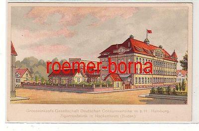 74508 Reklame Ak Zigarettenfabrik in Hockenheim (Baden) um 1910