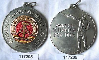 Seltene DDR Medaille Deutscher Schützenverband der DDR Silber (117205)
