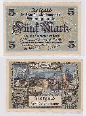 5 Mark Banknote Handelskammer des Memelgebietes 1922 (119824)