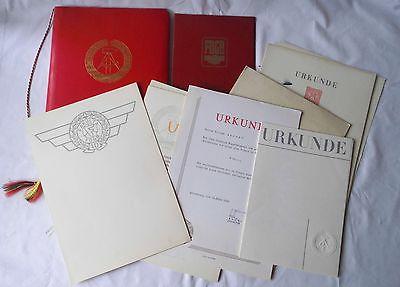 Seltener DDR Urkunden Nachlaß mit 20 Urkunden aus Altenburg 1959-1983 (111272)