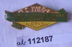 DDR Abzeichen Internationales Damen Ski Rennen Klingenthal 1976 (112187)