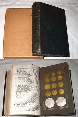 Seltenes Buch: Münzsammlung von 1853, umfangreich illustriert