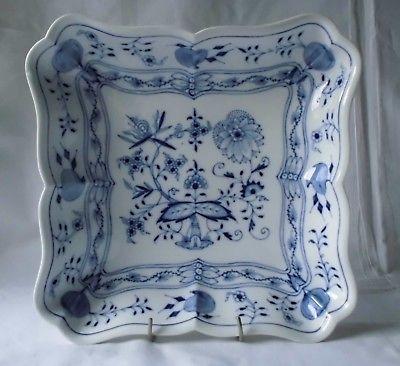 Meissen Porzellan Zwiebelmuster große quadratische Schale (118806)