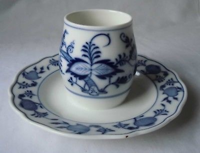Meissen Porzellan Zwiebelmuster seltenes Senftöpfchen ohne Deckel 1.Wahl(112092)