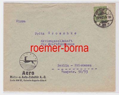 86265 Brief mit Reklame Fa. Aero Motor- Auto-Zubehör AG Berlin 1923