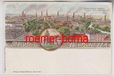 76403 Ak Lithografie Gruss aus Neumünster um 1900