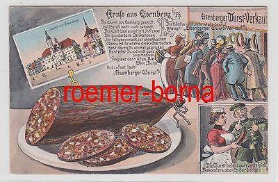 78145 Reklame Ak Gruß aus Eisenberg in Thüringen