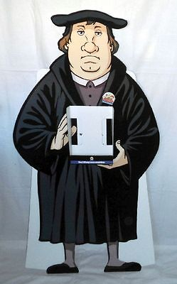 Großer Werbe Figur Pappe Mosaik Martin Luther 96.These SELTEN !!!