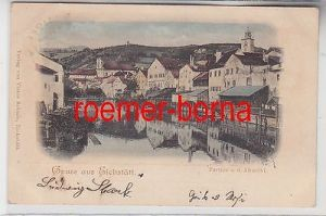 79087 Ak Gruss aus Eichstätt Parthie a.d. Altmühl 1899