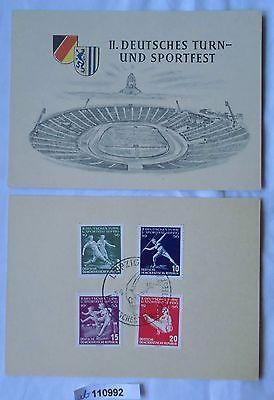 2 Karten II.Deutsches Turn- und Sportfest Leipzig 1956 (110992)