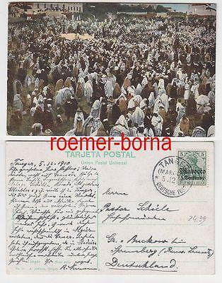 81804 Ak Tanger Gran soko mit Stempel Deutsche Post in Marokko Tanger 1910