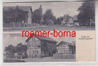 81170 Ak Gruß aus Großpillingsdorf Gastwirtschaft zur fröhl. Wiederkehr um 1920