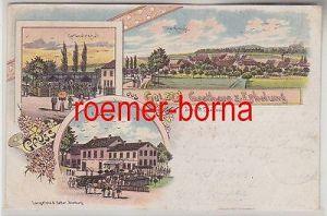 80503 Ak Lithographie Gruss aus Golben Gasthaus zur Erholung 1900
