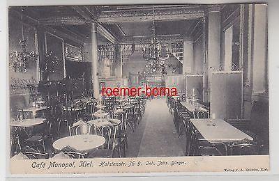 56871 Ak Kiel Café Monopol Holstenstrasse 9, 1909