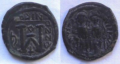 Follis Bronze Münze Byzantinisches Kaiserreich 6.Jahrhundert (116606)