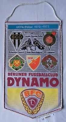 DDR Wimpel Berliner Fussballclub BFC Dynamo UEFA Pokal 1972-1973 (103351)