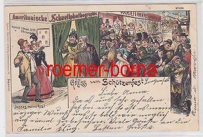 77653 Ak Lithografie Gruss vom Schützenfest 1898